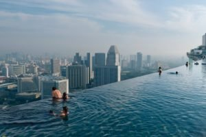 cityscape, Swimming pool, Rooftops, Singapore