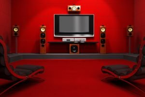 indoors, Television sets, Chair, Speakers