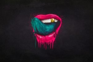 minimalism, Lips, Tongues, Falling In Reverse