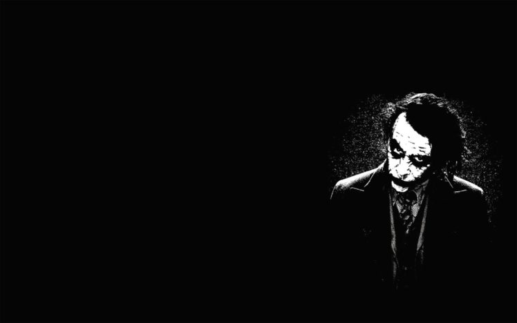 Black Background Monochrome Joker HD Wallpaper Desktop