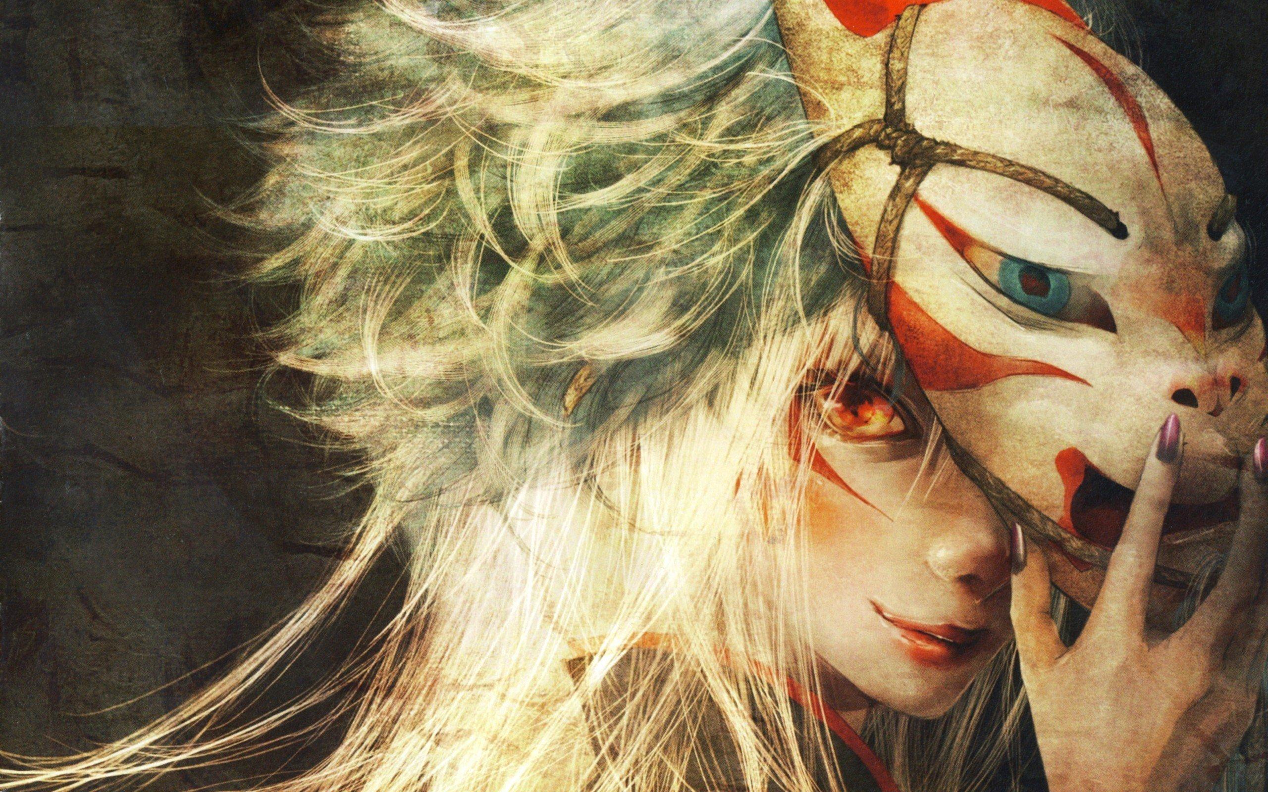 anime, Anime girls, Red eyes Wallpaper