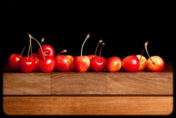 vignette, Cherries HD Wallpaper Desktop Background