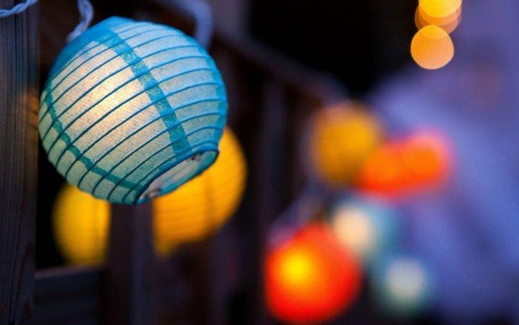 lantern, Lights, Depth of field, Decorations, Bokeh HD Wallpaper Desktop Background