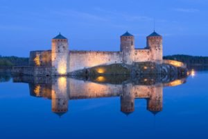 castle, Finland, Reflection, Water