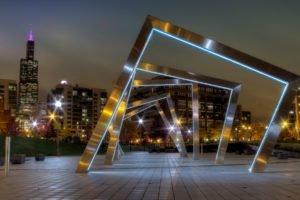 metal, City, Building