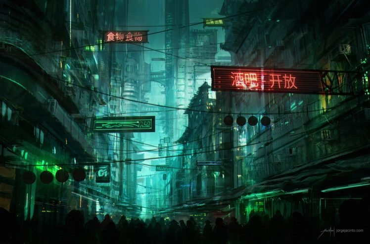 futuristic, Cityscape, Cyberpunk HD Wallpaper Desktop Background