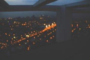 cityscape, Orange, Traffic, Dark