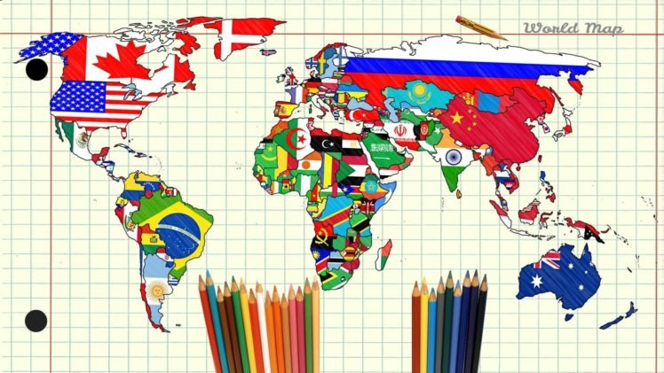 Map world pencils paper continents hd wallpapers desktop and map world pencils paper continents hd wallpaper desktop background gumiabroncs Images