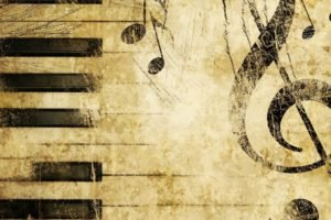 musical notes, Piano