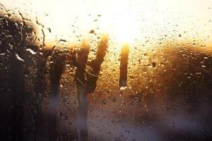 rain, Water on glass, Sunlight