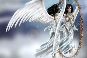 angel, Gothic, Mirror