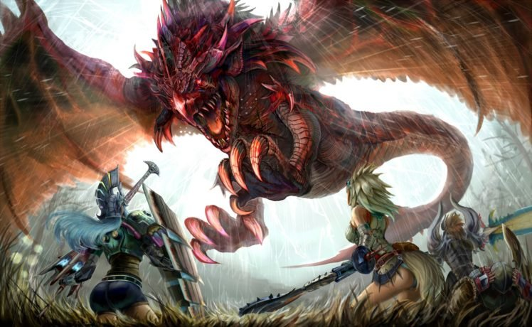 Rathalos Monster Hunter Wyvern HD Wallpaper Desktop Background