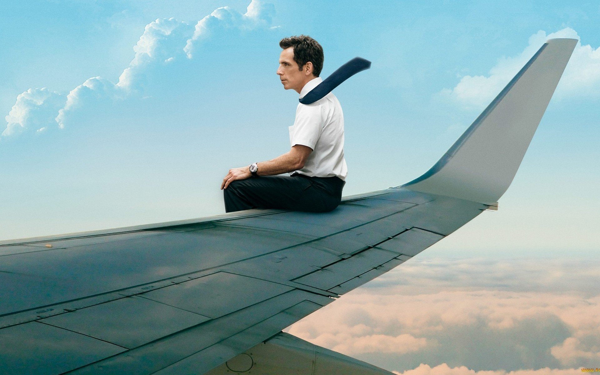 Ben Stiller The Secret Life Of Walter Mitty Airplane Hd
