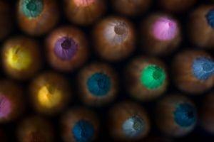 pencils, Macro, Colorful