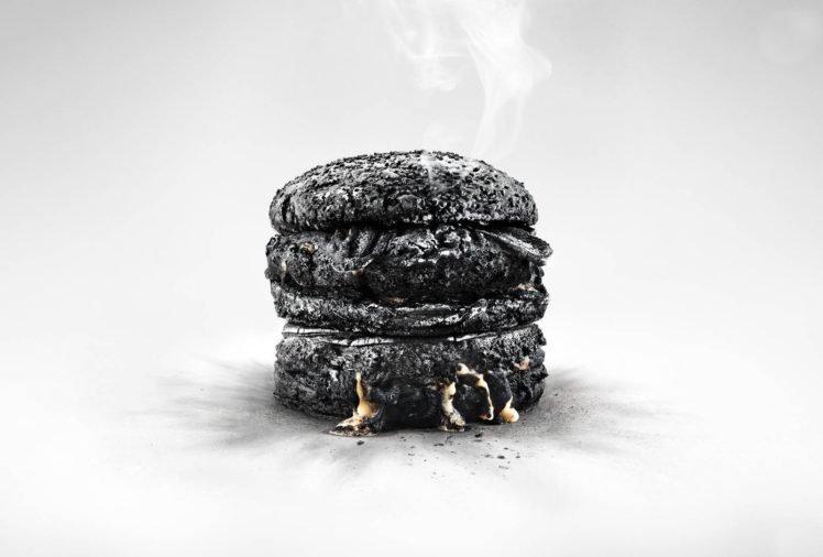 food, Hamburgers, Simple background, White background, Simple, Melting HD Wallpaper Desktop Background
