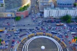 tilt shift, Warsaw, City