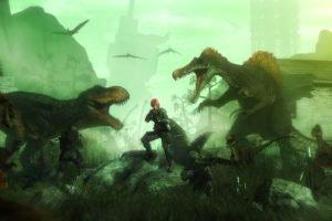 dinosaurs, Weapon, Tyrannosaurus rex, Spinosaurus, Dino Crisis