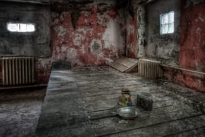 room, Abandoned, HDR, Bowls, Spoons, Wood, Walls, Interiors
