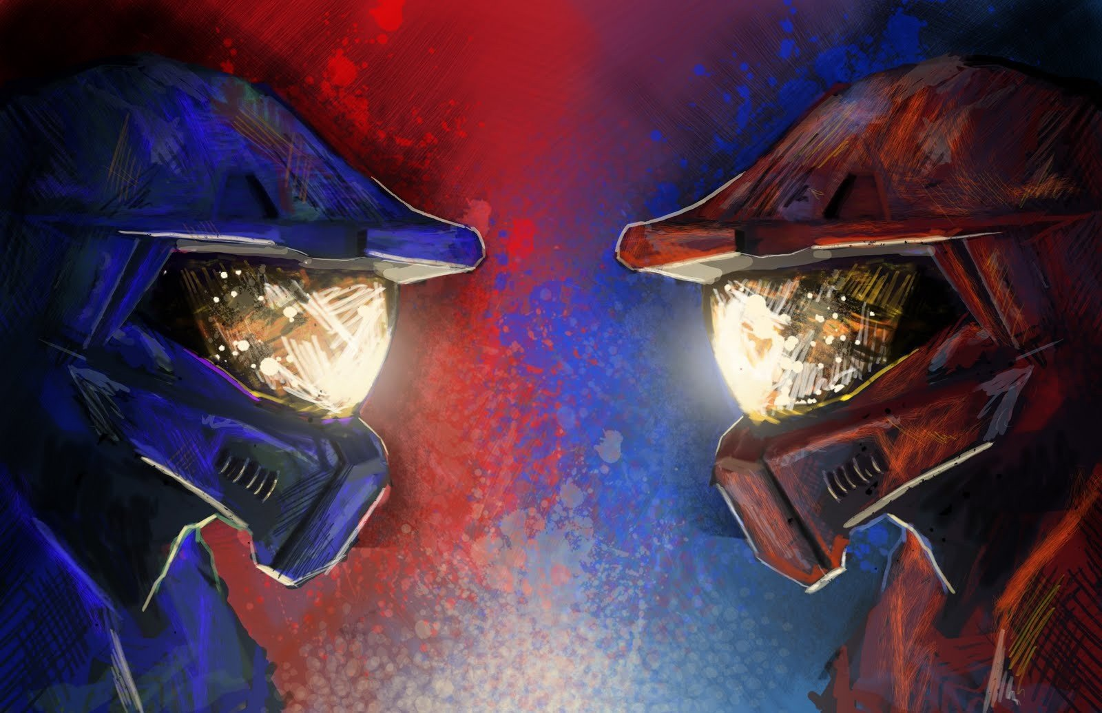Red Vs. Blue, Halo HD Wallpapers / Desktop And Mobile