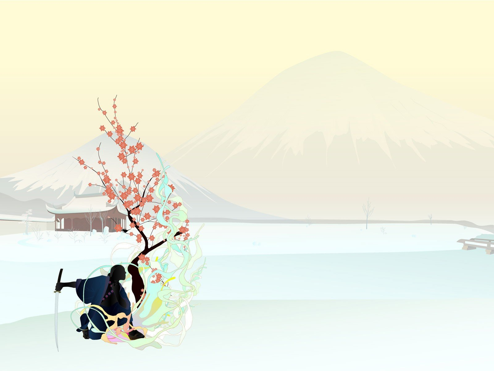Simple Background, Japan, Samurai, Katana HD Wallpapers