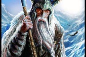 Vikings, Odin, Gungnir, Huginn, Muninn, Helmet