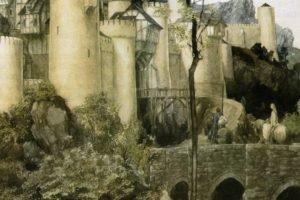 castle, Alan Lee, The Mabinogion