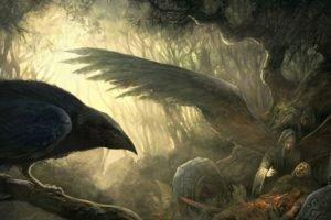 Vikings, Mythology, Wings, Crow