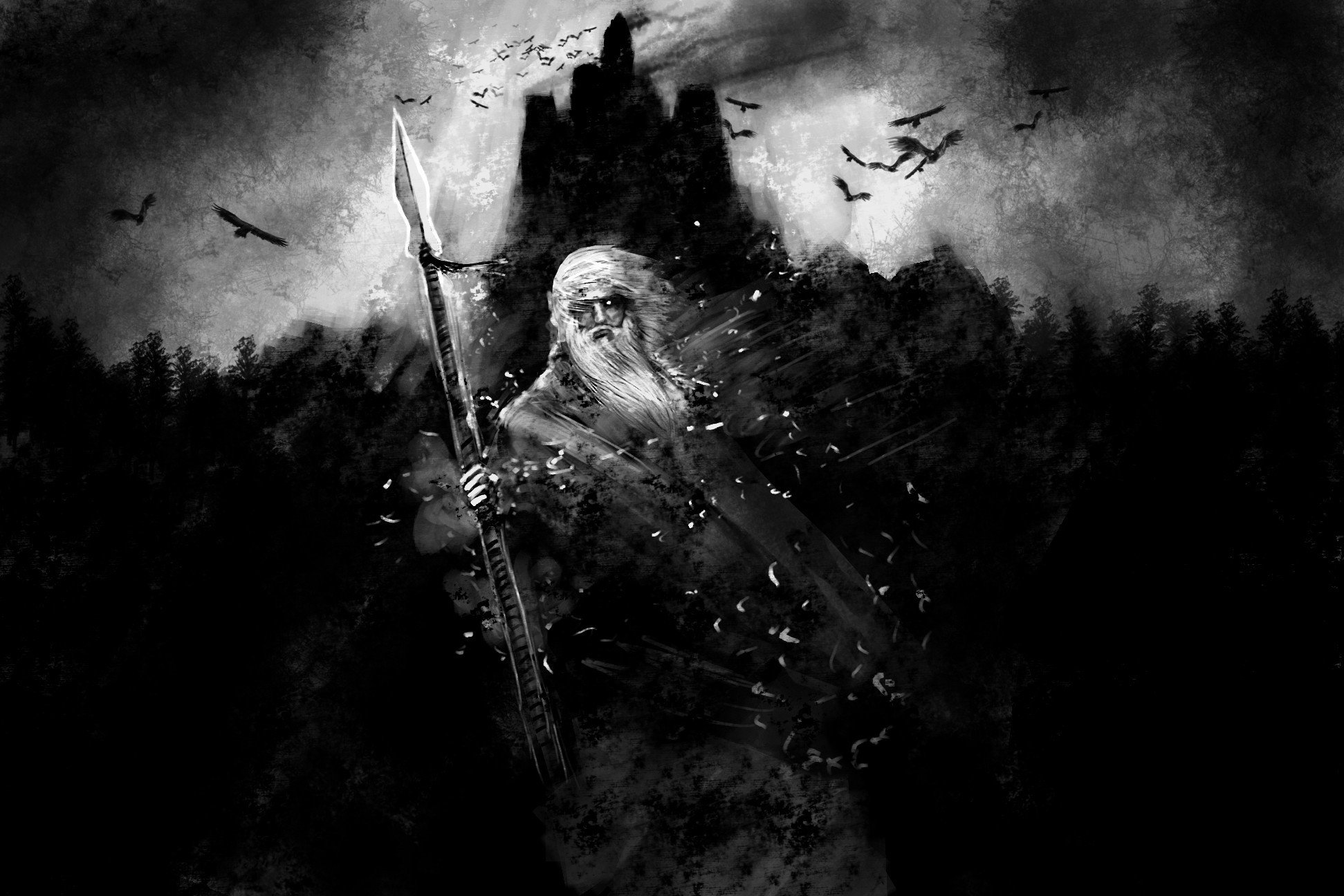 Vikings odin gungnir hd wallpapers desktop and mobile - Norse mythology 4k wallpaper ...