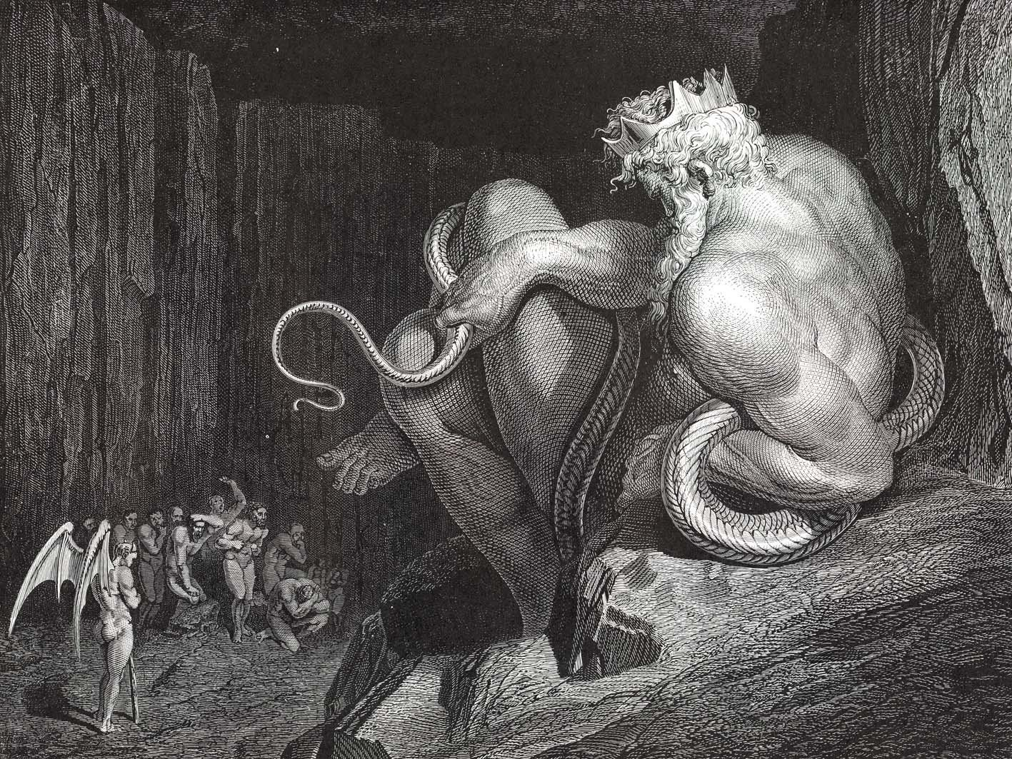Mythology Etching Gustave Dore Dante Alighieri Dantes