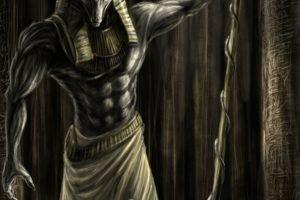 painting, Mythology, Anubis