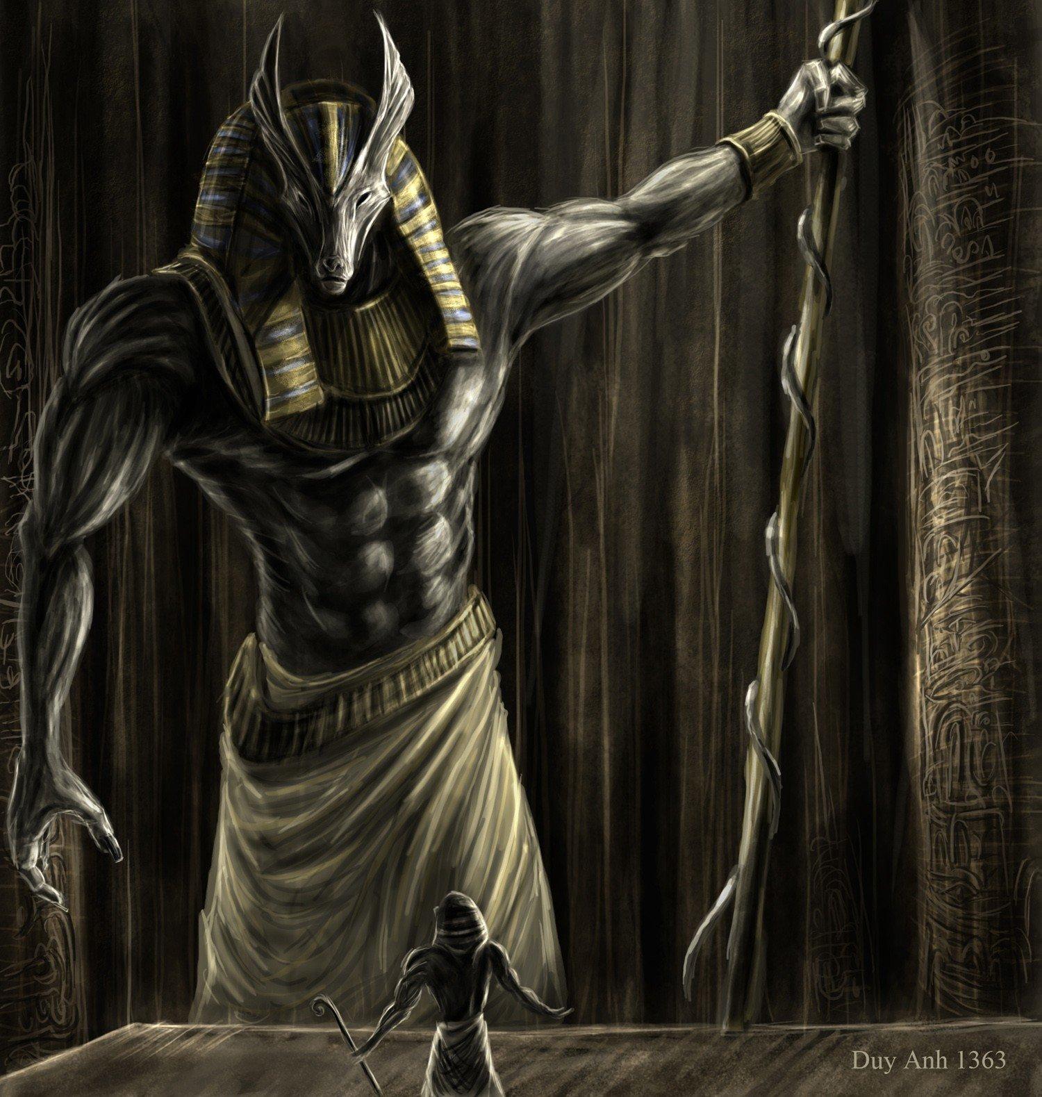 Painting, Mythology, Anubis HD Wallpapers / Desktop And