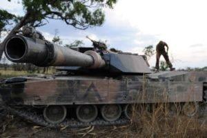 closeup, Blurred, M1 Abrams