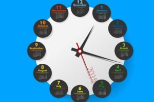 calendar, Blue background, Clocks, Month, Circle, Wallhaven