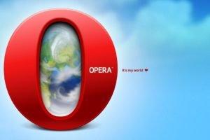 opera browser, World, Opera, Red