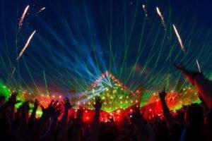 music festival, Crowds, Hand
