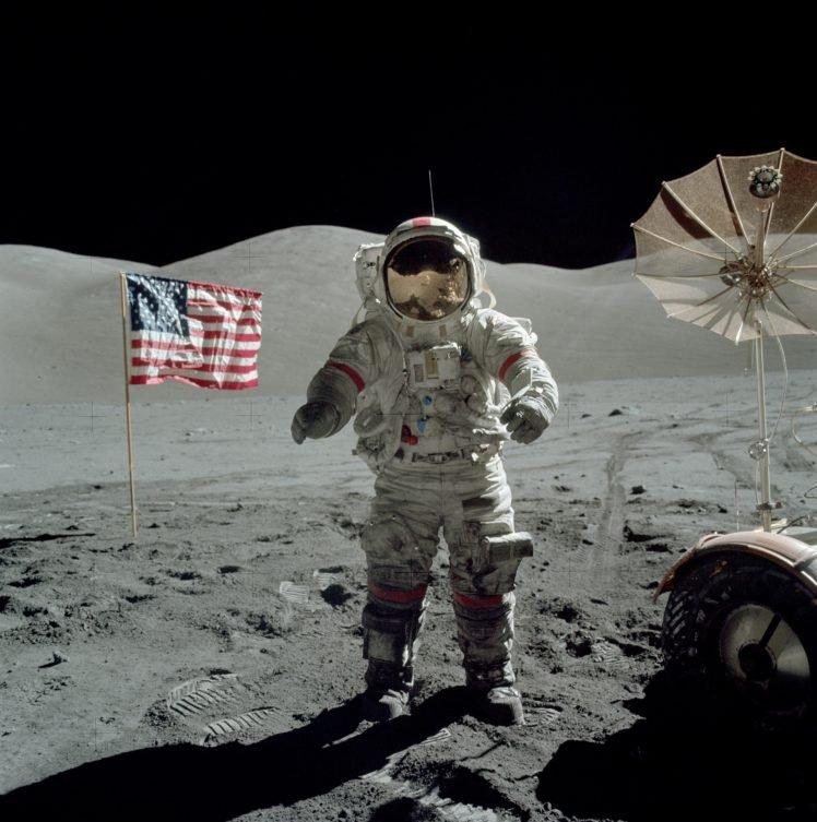 Apollo, Moon, Astronaut HD Wallpaper Desktop Background