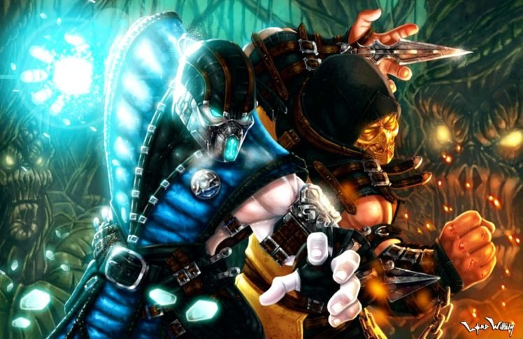 Mortal Kombat Sub Zero Scorpion Character Hd Wallpapers