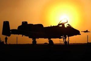 airplane, Silhouette, Sunlight, Sun