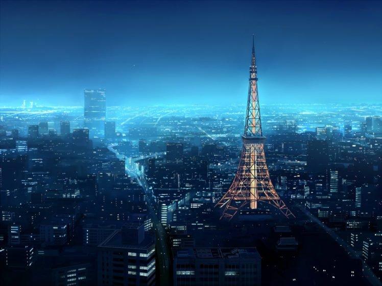 city, Blue, Night HD Wallpaper Desktop Background