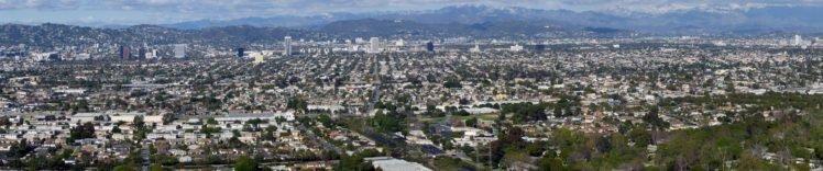 city, Triple screen, Los Angeles HD Wallpaper Desktop Background