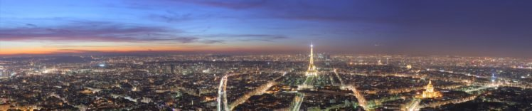 city, Paris, Triple screen HD Wallpaper Desktop Background
