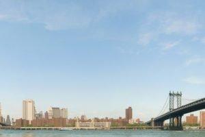 New York City, Triple screen, Brooklyn Bridge, Manhattan Bridge, Panoramas
