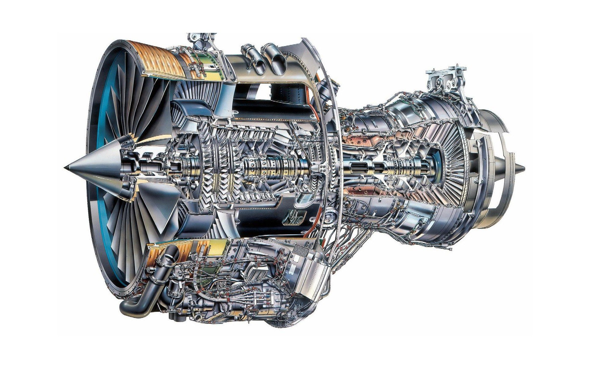 Engines White Background Sketches Engineering Turbine Gears on Rolls Royce Turbine Engines