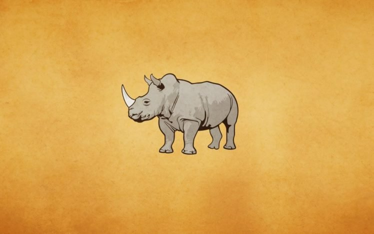 minimalism, Rhino HD Wallpaper Desktop Background