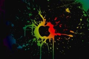 Apple Inc., Colorful, Paint splatter