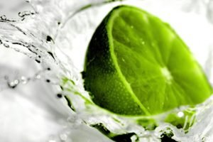 water, Splashes, Limes