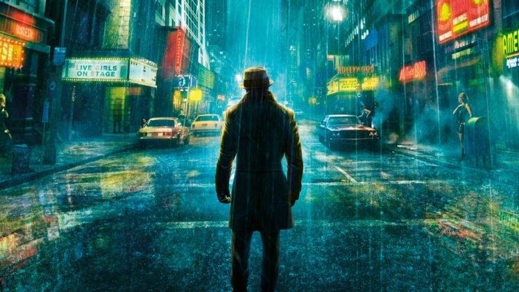Rorschach, Watchmen, Street, Rain HD Wallpaper Desktop Background