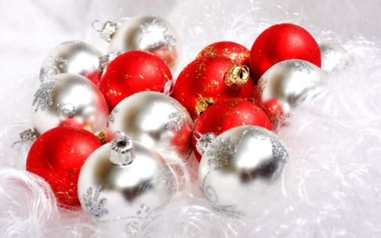 New Year, Christmas ornaments HD Wallpaper Desktop Background