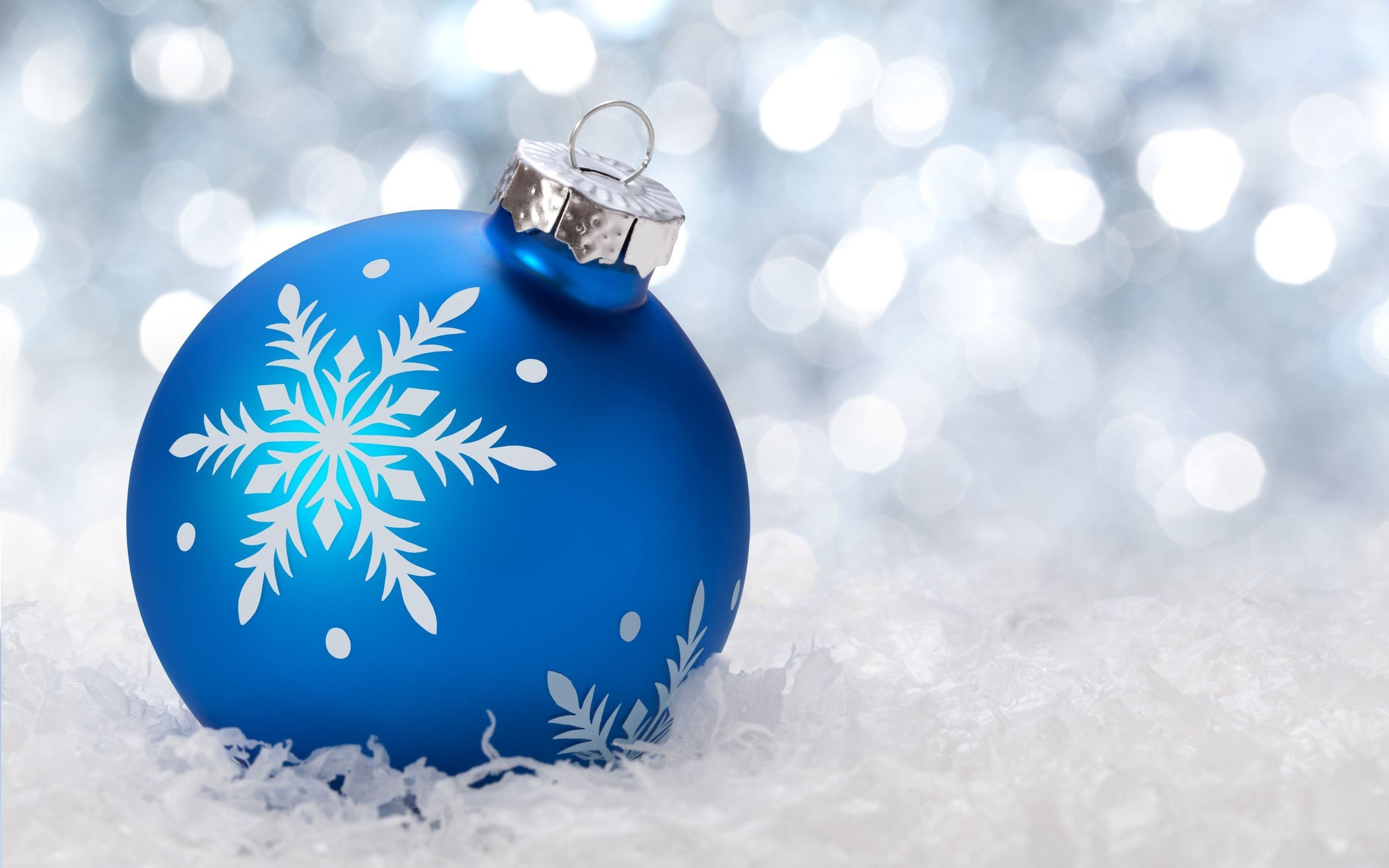 New Year, Snow, Christmas ornaments, Bokeh HD Wallpapers ...