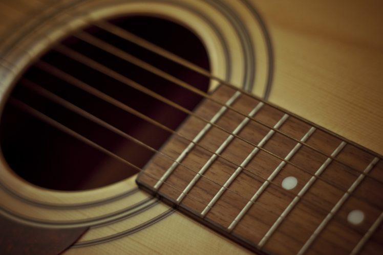 guitar, Strings, Wood HD Wallpaper Desktop Background